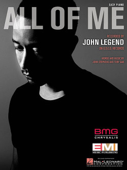 john legend all of me sheet music