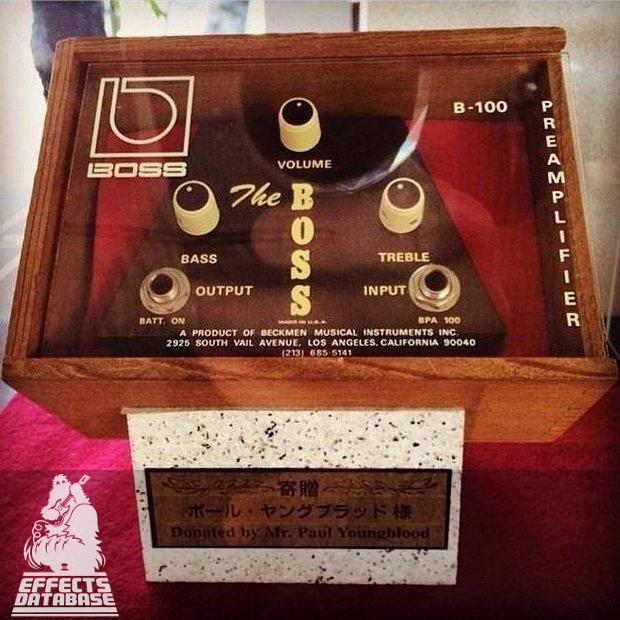 Beckmen B-100 history of Boss guitar pedals