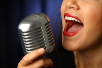 Take singing lessons to learn how to become a backup singer